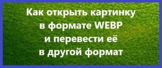 Чем открыть формат WEBP