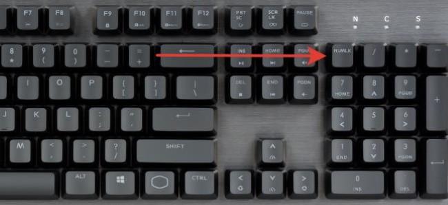Как включить на клавиатуре цифры с правой стороны