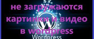 Не загружаются картинки и видео в wordpress