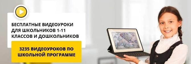 Онлайн-уроки по школьным предметам бесплатно
